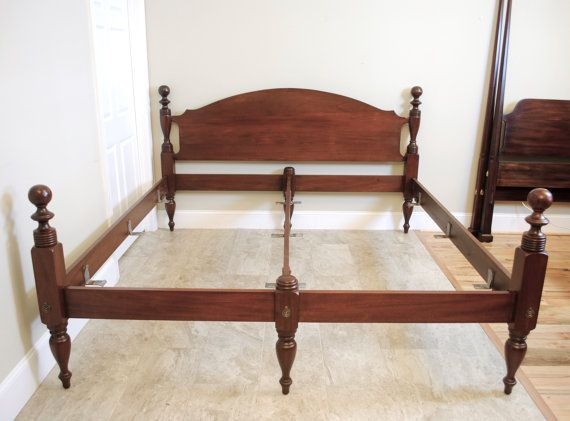 Craftique Mahogany King Cannonball Bed Cannonball Bed Bed King Beds