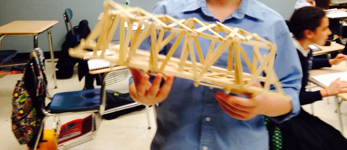 Popsicle stick bridge prepare to meet your maker! Test how much weight it can bear in tension! Warning - there will be tears when it breaks from the stress! http://stemmiddleschool.wix.com/curriculum