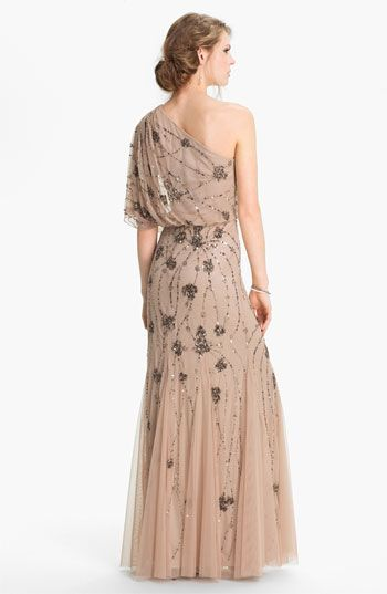 e8ad8539 Adrianna Papell Beaded One Shoulder Gown | Nordstrom--my bridesmaid's dress  for Jen's wedding!