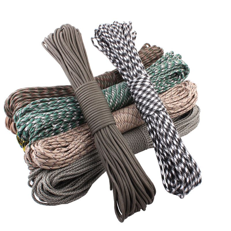 50ft Paracord 550 Paracord Parachute Cord Lanyard Rope Mil Spec