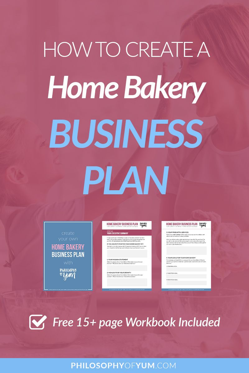 How to Create a Home Bakery Business Plan (Workbook