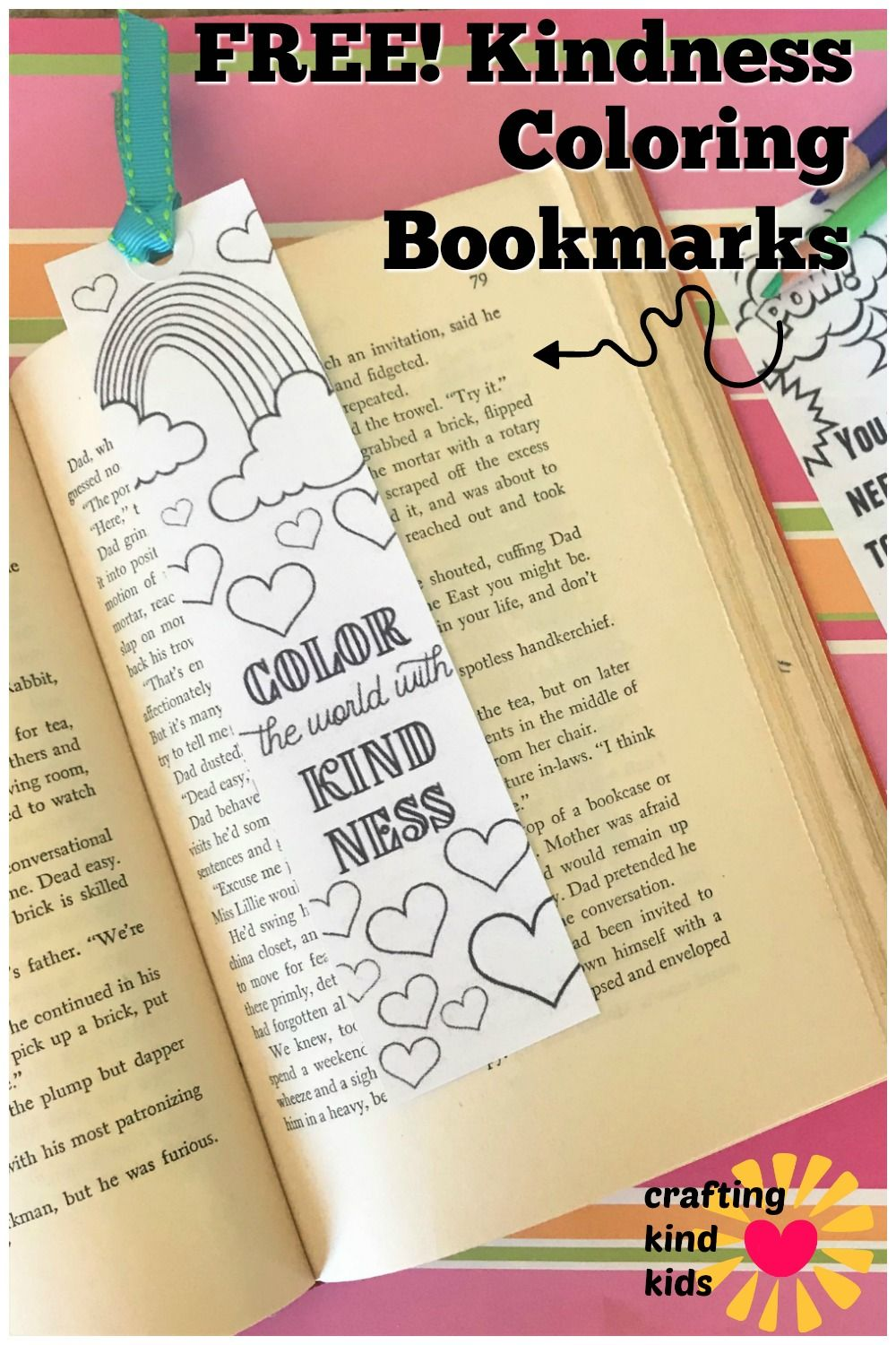 Kindness Coloring Bookmarks Kids Adults Coloring Bookmarks Bookmarks Kids Coloring Pages For Kids