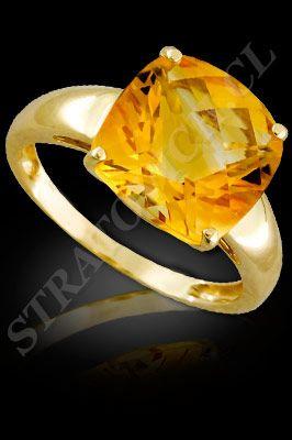 Anillo Para Mujer De Oro Amarillo De 18 Kilates Con Semipreciosas El Modelo Af0053 Santiago Chile ñuñoa Anillos De Oro Oro Amarillo Piedras Preciosas