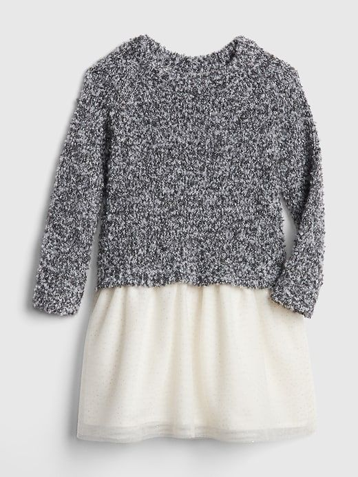 84719bc09 Marled Sweater Mix-Fabric Dress | Products | Marled sweater, Grey ...