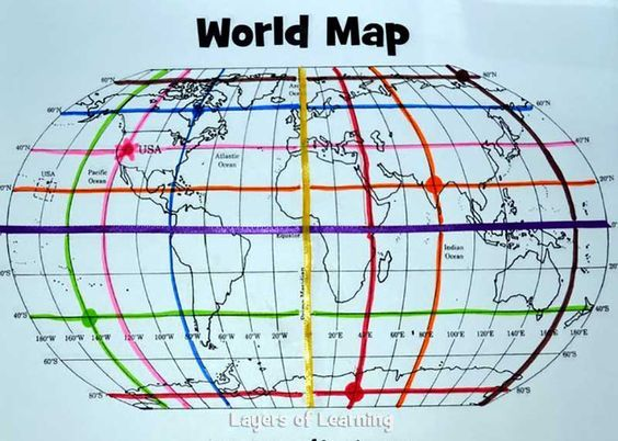 This Lesson Plan Includes A Printable World Map With A Map Grid
