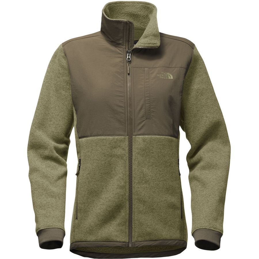 7351330dc433 The North Face - Novelty Denali Fleece Jacket - Women s - Burnt Olive Green  Heather New Taupe Green
