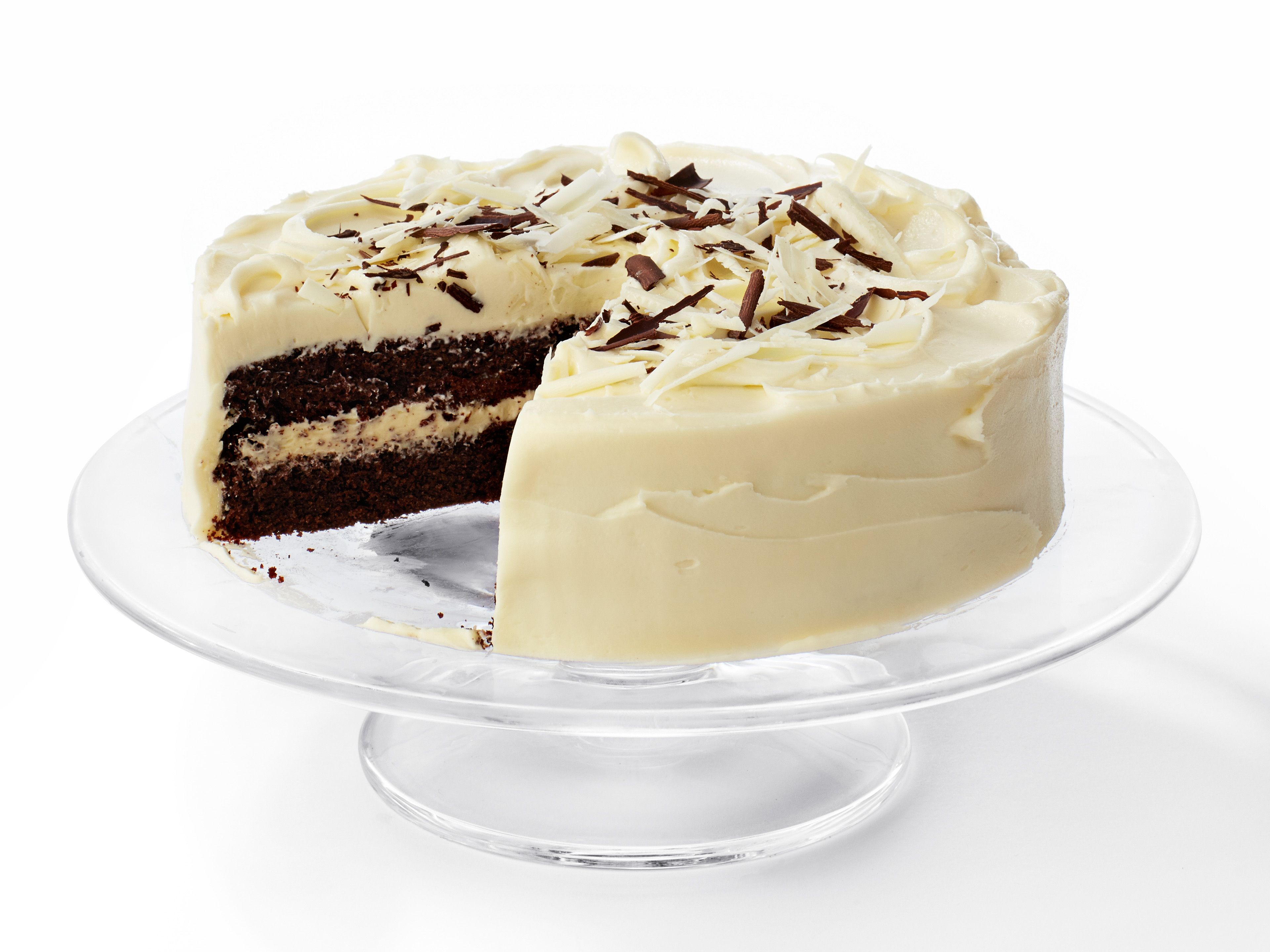 White Layered Cake Recipes: Black-and-White Layer Cake