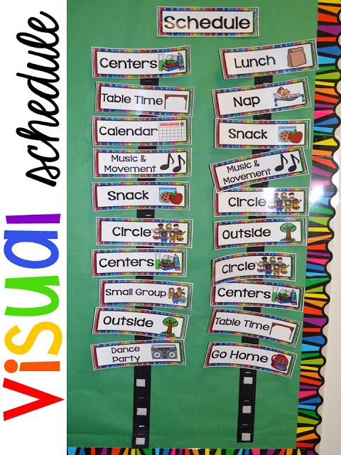 Calendar Organization Rules : Preschool daily schedule and visual schedules visuals