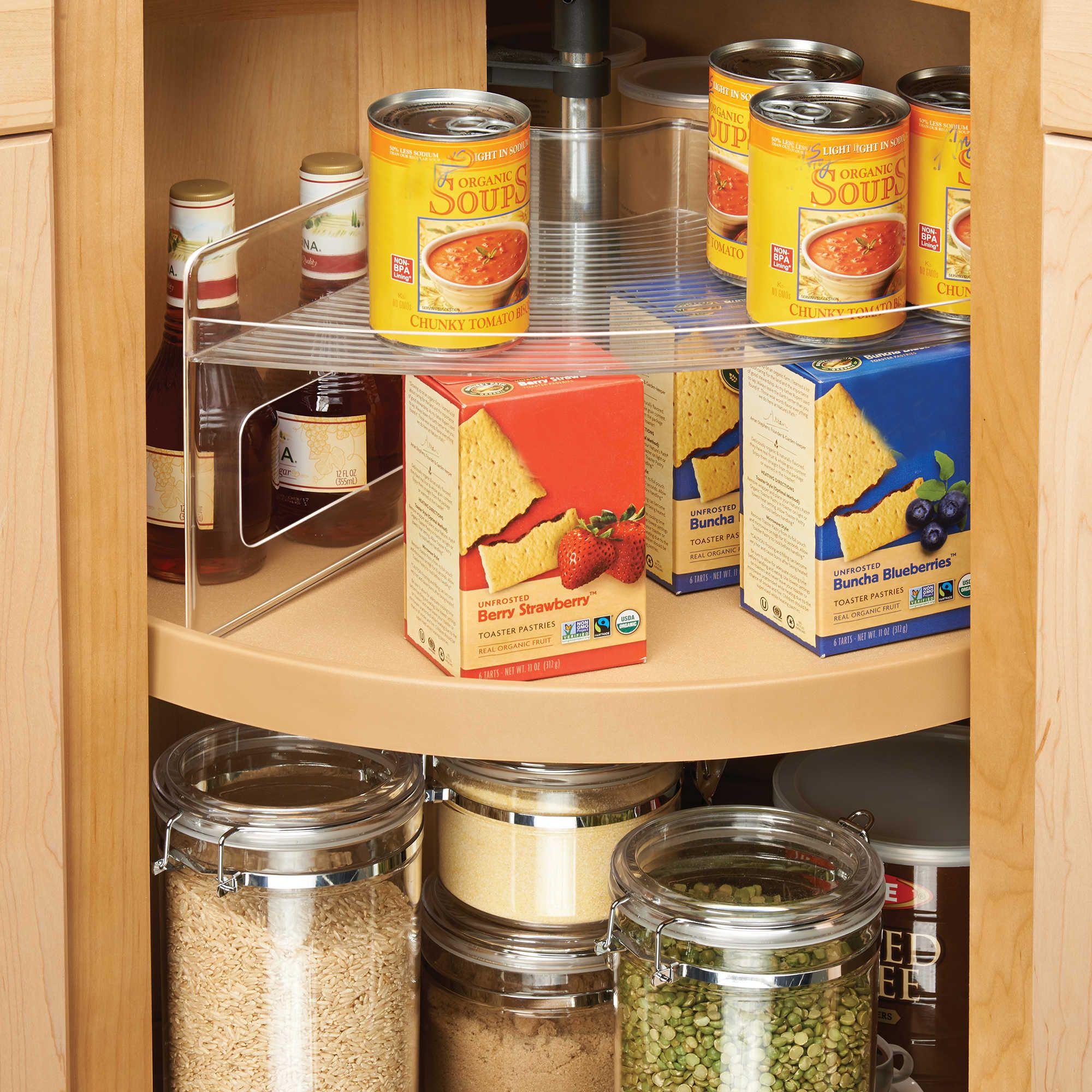 Superieur InterDesign® Cabinet Binz™ Lazy Susan Storage Shelf