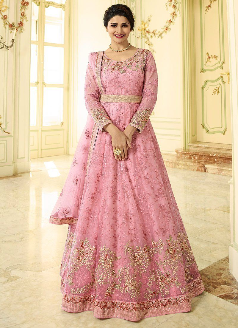 2695b8abb1 Online Shopping for Pink Prachi Desai Party Wear Heavy Anarkali Suit. 100%  Original Product, High-Quality Fabric, Free Shipping, Best Quality, Best  Price, ...