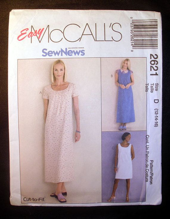 Women\'s DRESS or JUMPER Sewing Pattern Misses Size 12, 14, 16 Bust ...