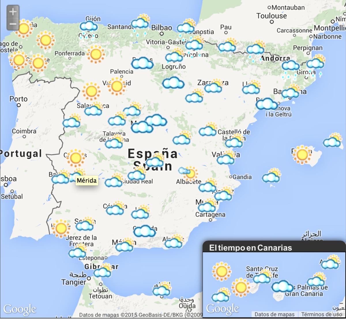 La Previsión Del Tiempo Mapas Del Tiempo Qué Tiempo Hace Enseñando Español