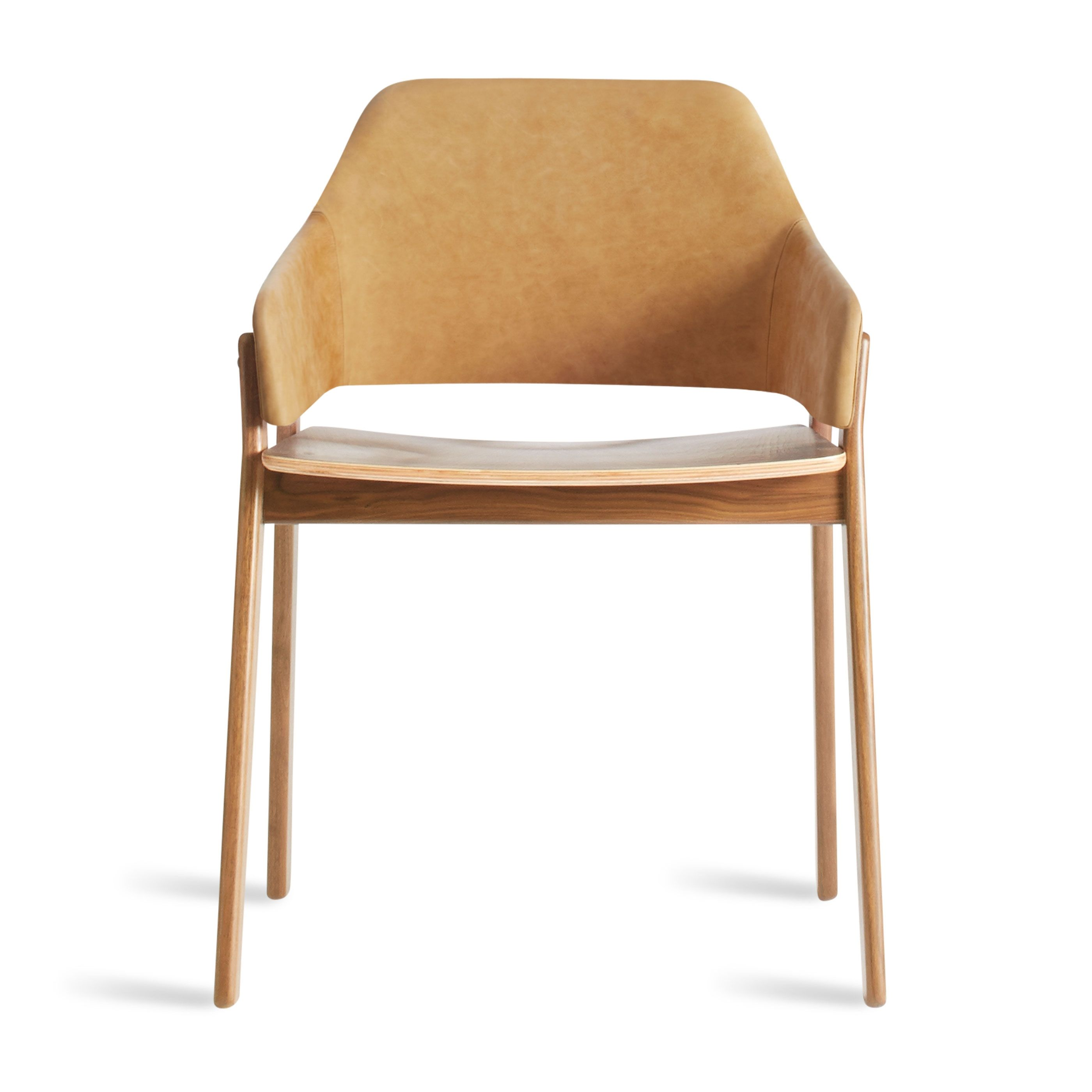 Clutch leather dining chair modern dining chair blu dot