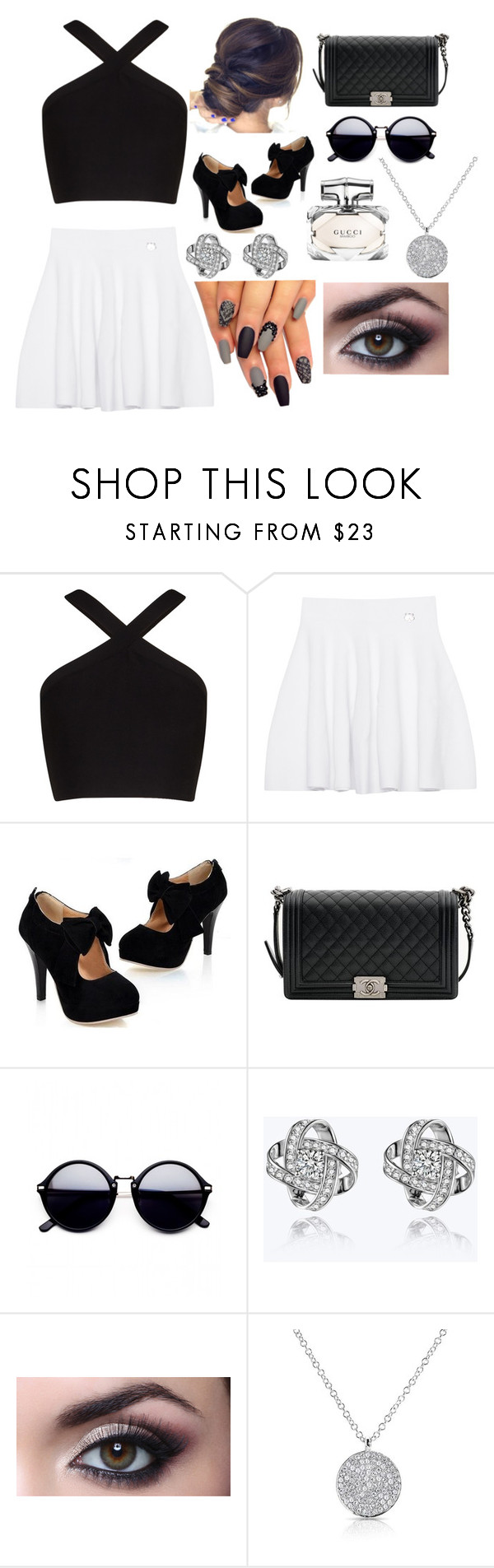 """""""New Idea 💖"""" by phoebe-66 ❤ liked on Polyvore featuring BCBGMAXAZRIA, Kenzo, Chanel, Anne Sisteron and Gucci"""