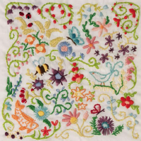 Free embroidery pattern - Spring Sampler from Doodle Stitching