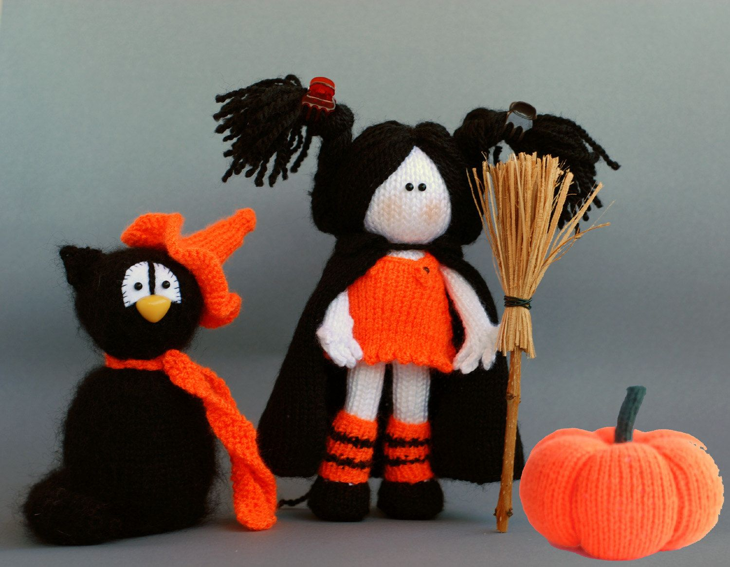 Halloween knitting patterns Sale Black Cat in the by deniza17 ...