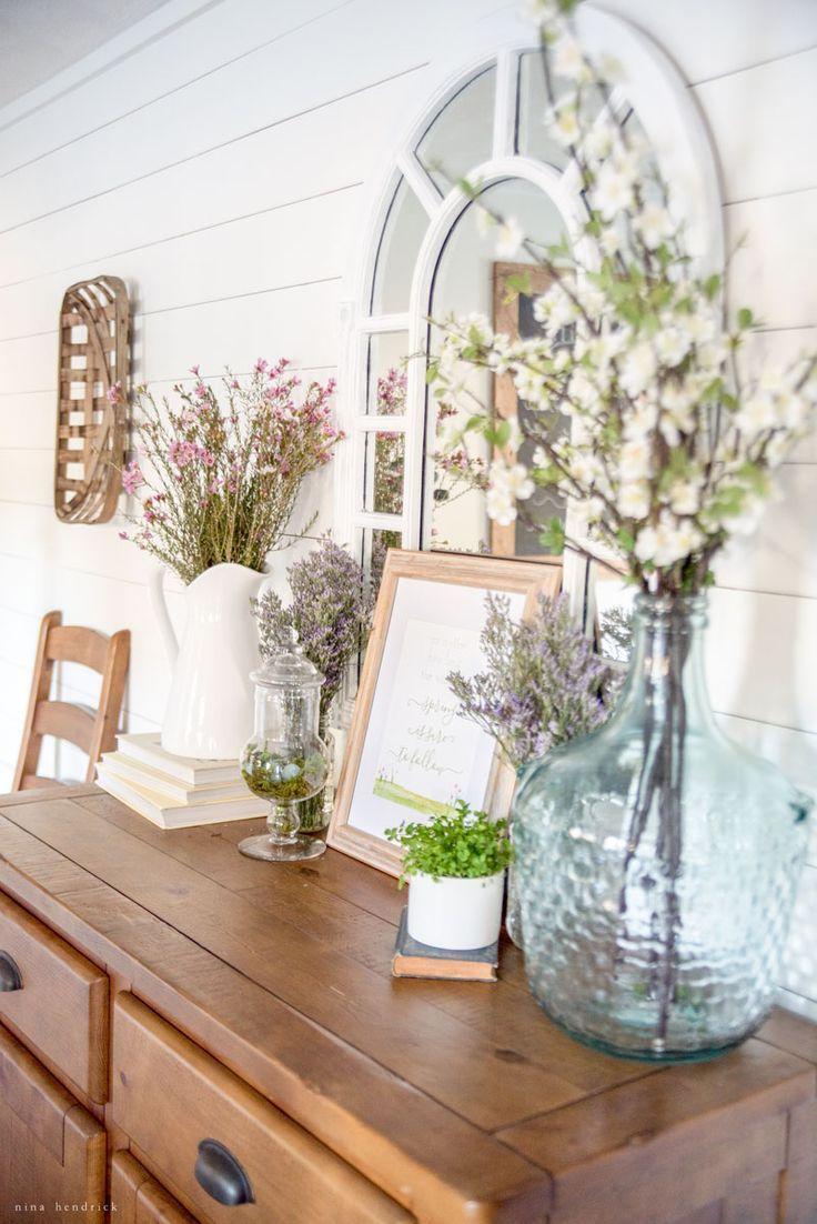 Spring Home Tour 2017 | Spring, Farmhouse style and Vignettes
