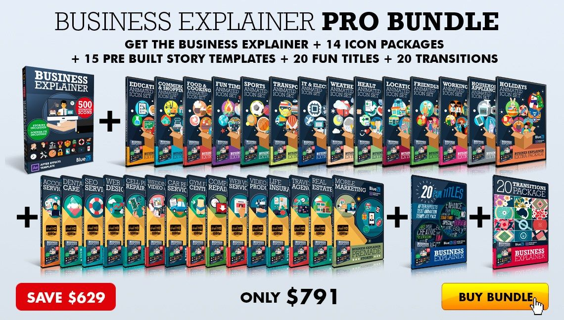 THE BUSINESS EXPLAINER PRO BUNDLE - AFTER EFFECTS TEMPLATES