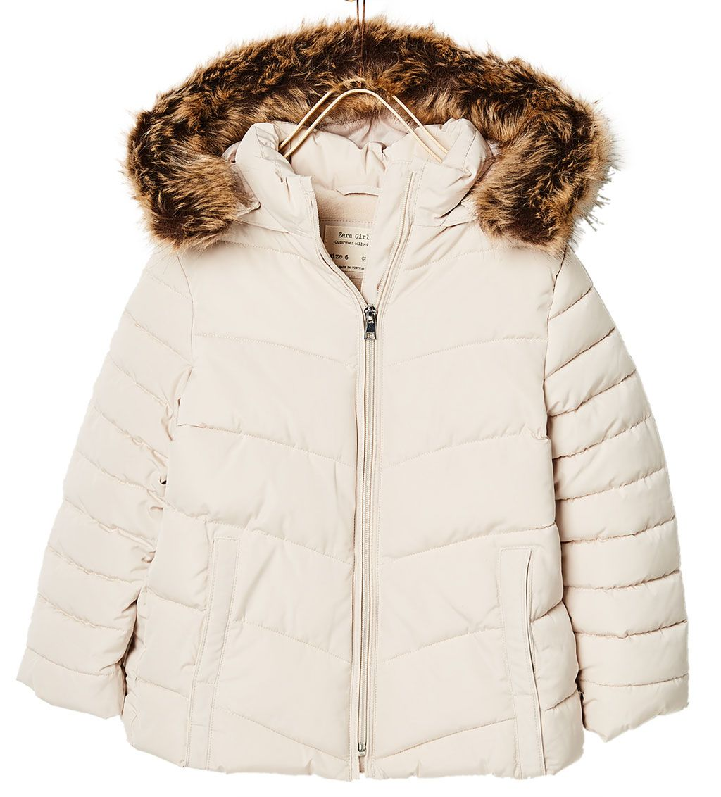 QUILTED JACKET WITH HOOD Quilted OUTERWEAR GIRL | 4 14 years
