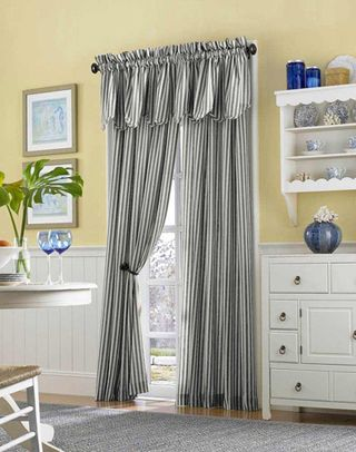 Country Stripe Cotton Casual Curtain Panel