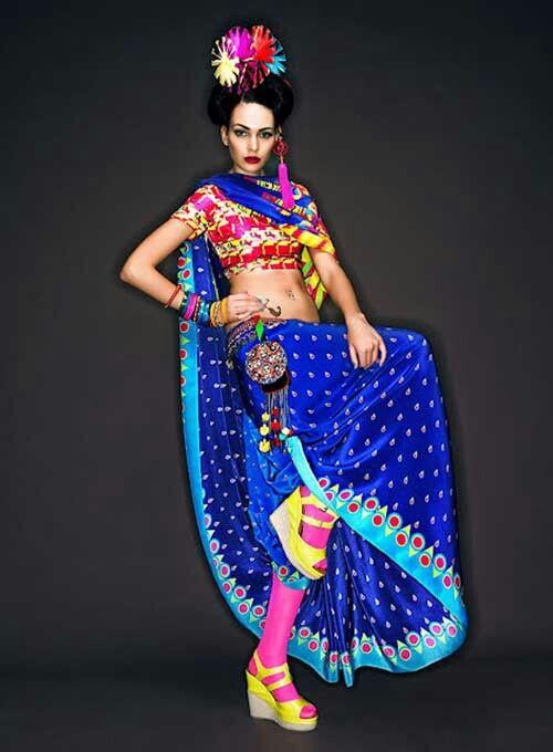 Manish arora saree fashion
