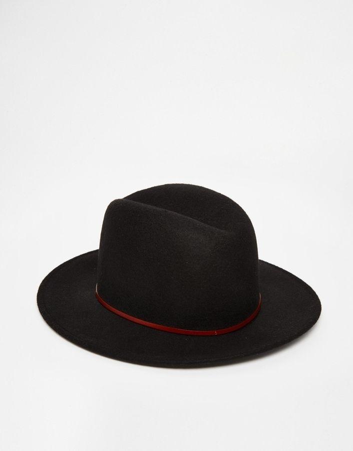 Sombrero de lana negro de Catarzi 6f526155fca