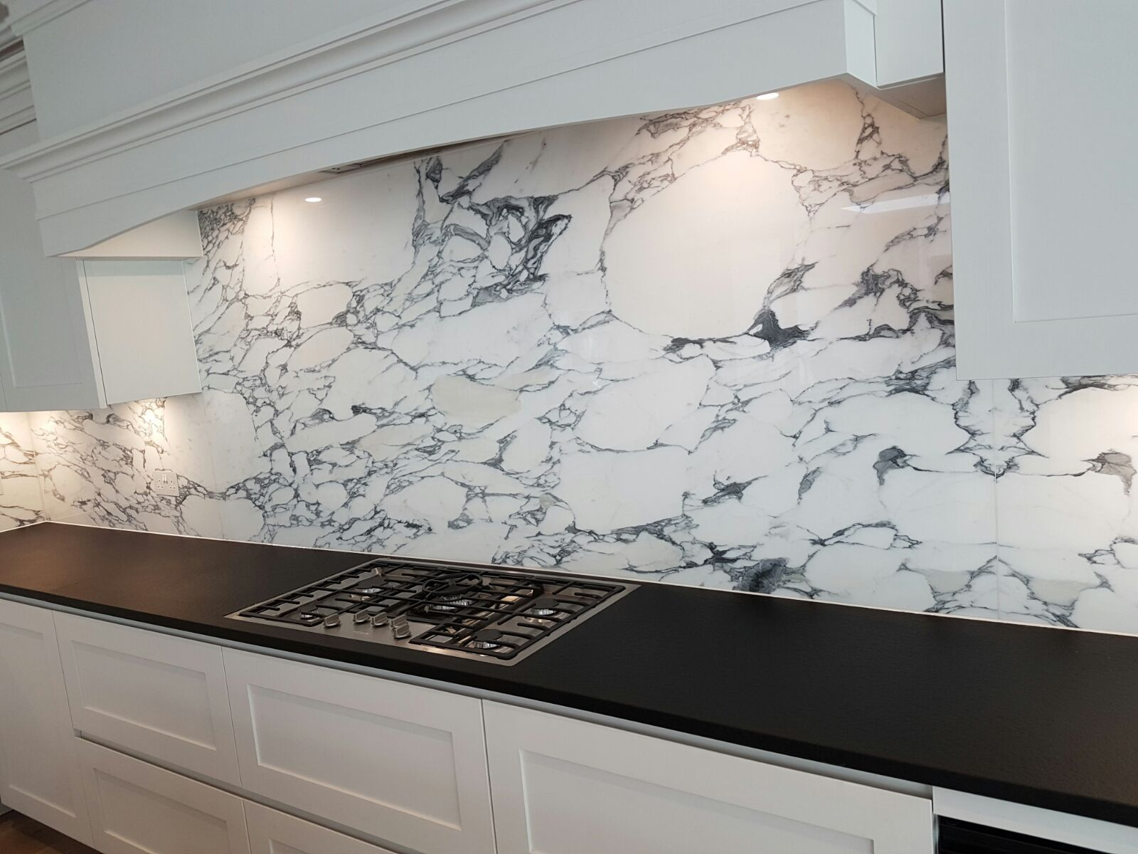 This Beautiful Marble Arabescato Kitchen By The Marble Group