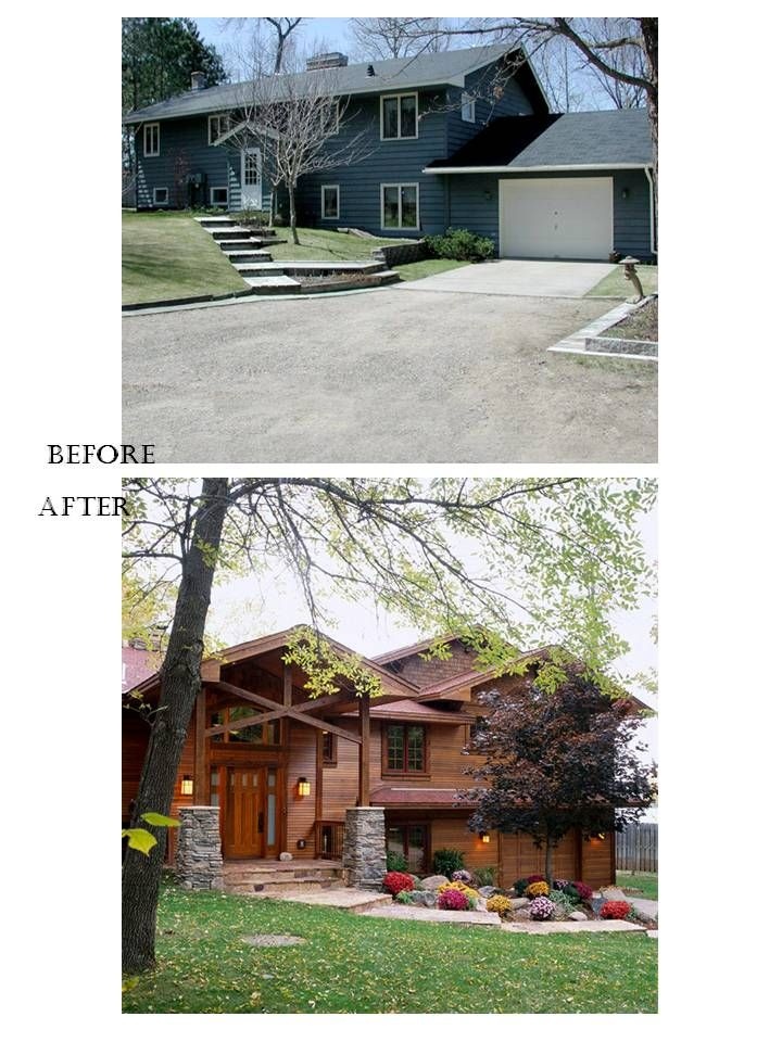 Home Exterior Makeovers you Have to See to Believe   House, Curb ...