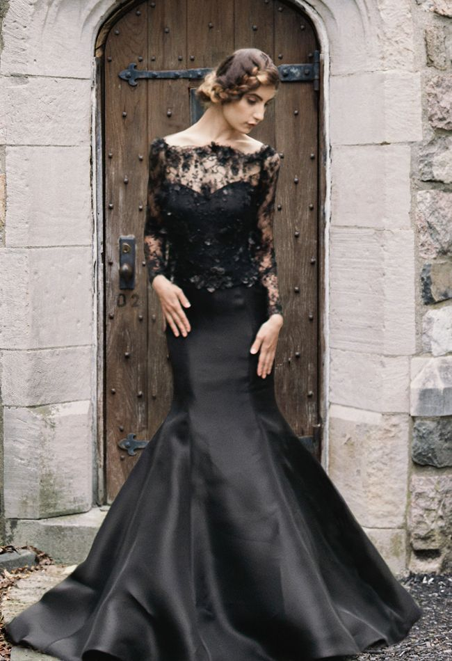 25 Gorgeous Black Wedding Dresses  dfdc88bf6b90