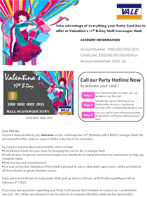 Credit Card Invitation (Letter) | Projects to Try | Mall