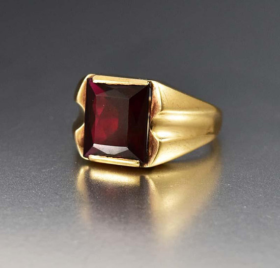 Gold Ruby Signet Ring Vintage 10k Gold Art Deco Mens Ruby Ring Antique 1920s July Birthstone In 2020 Vintage Jewelry Antique Antique Jewellery Online Mens Ruby Ring