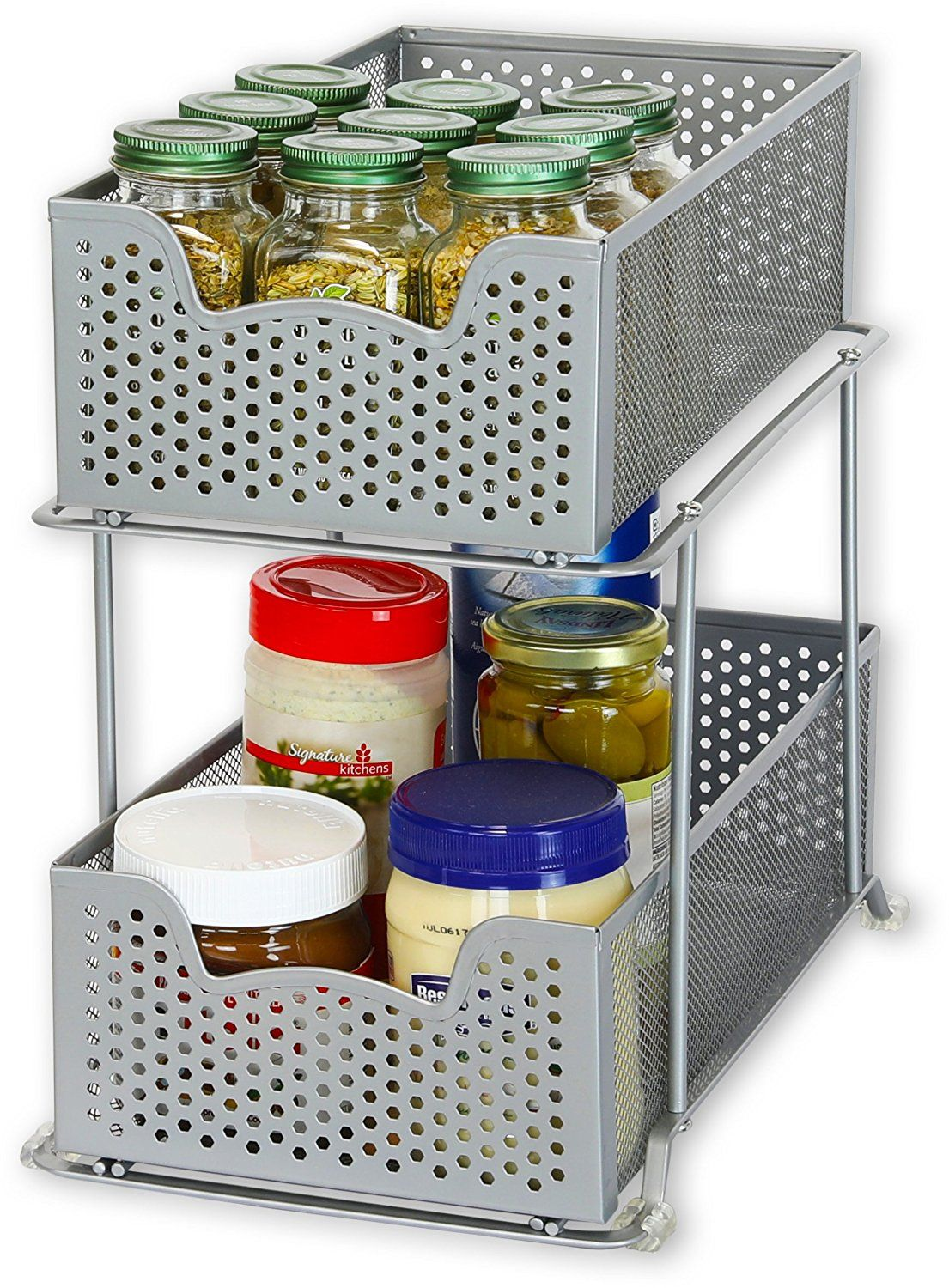 Simplehouseware 2 Tier Sliding Cabinet Basket Organizer Drawer Bronze Kitchen Dining Pinterest