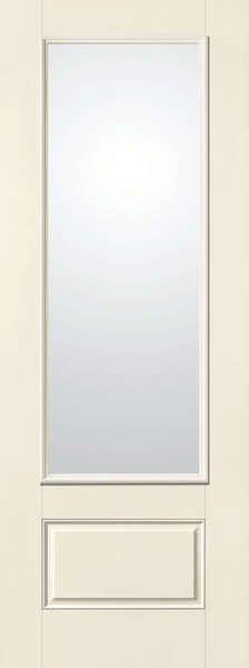 Fiberglass 1 Panel Bottom 3/4 Lite Dual Pane Clear Tempered Glass  Flush  Glazed. Exterior Fiberglass DoorsExterior ...