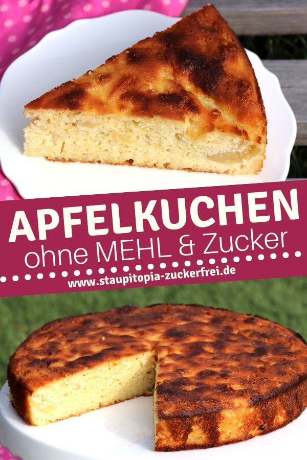 Apfelkuchen Ohne Mehl Rezept In 2020 Mit Bildern Low Carb Apfelkuchen Zuckerfreie Rezepte Backzutaten
