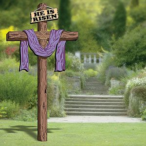 He Is Risen Cross Diy Woodcraft Pattern 2059 Celebrate The Resurrection Of Jesus This Easter Season By Easter Yard Art Yard Art Woodworking Plans Patterns