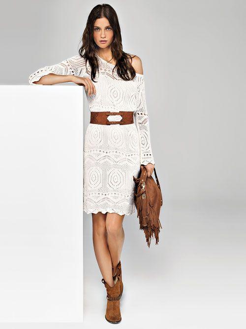 Mini Dress Uncinetto Con Cinturone Collezione Liu Jo Jeans Primavera Estate  2014 c4aa70bd8ef