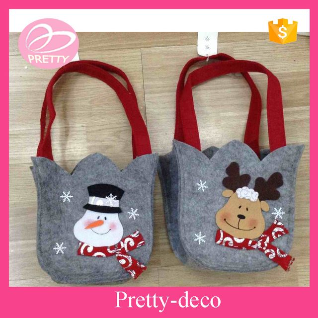 source new arrival oem design price christmas felt gift bag wholesale on malibaba