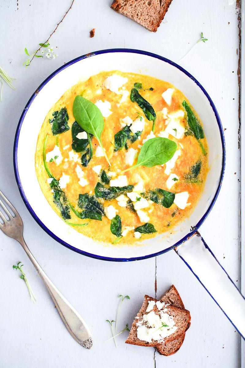 Rezept Frittata mit Spinat und Feta