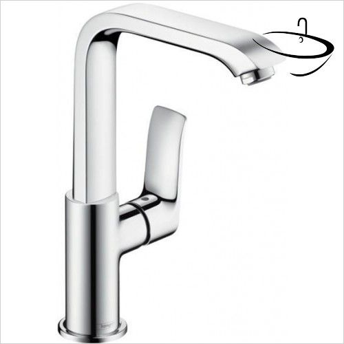 Hansgrohe Taps - Metris Basin Mixer 230 With Swivel Spout | Basin ...