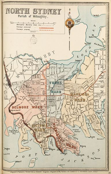 North Sydney Borough Map Available To Purchase As An Archival Print Contact The Library Shop For Details Print Number C006720 Old Maps Sydney City City Maps