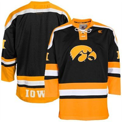 Iowa Hawkeyes Black Hockey Jersey  322657ef37c