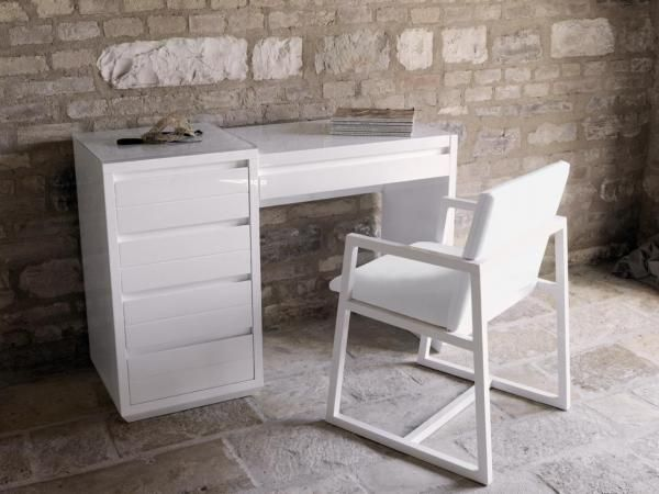 small white vanity table. Casabella Adria Medium Dressing Table In Black or White  Bedroom