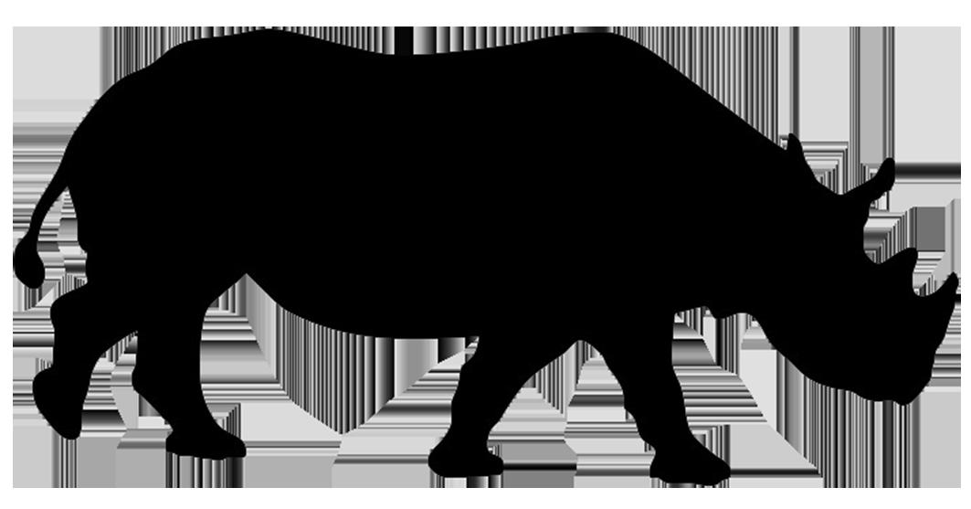 rhinoceros silhouette Animal silhouette