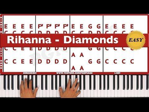 How To Play Diamonds Rihanna Piano Tutorial Lesson Pgn Piano
