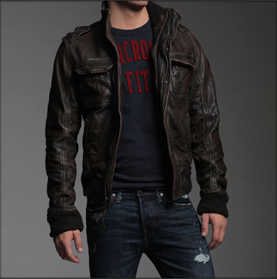 A&F Rollins Leather Jacket in 2019 | Kleidung und Mode style