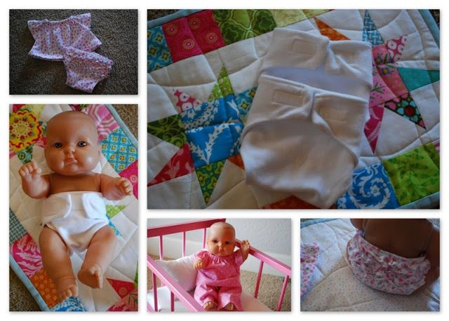 Tutorials : How to make a variety of cute doll clothes for a baby doll byThe Blueberry Moon