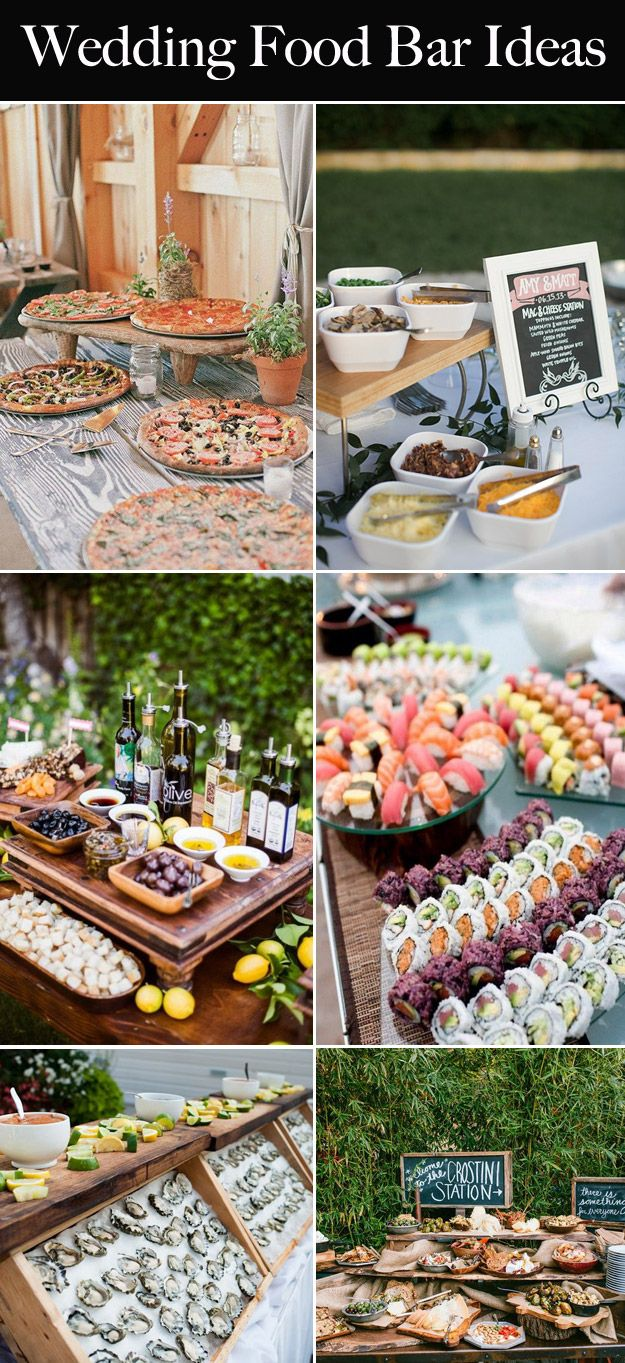 6 idei de nunta alimente bar, care va incanta invitatii | B & E ...