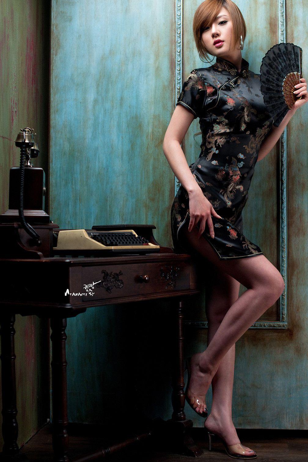 Hwang Mi Hee Wearing Dress