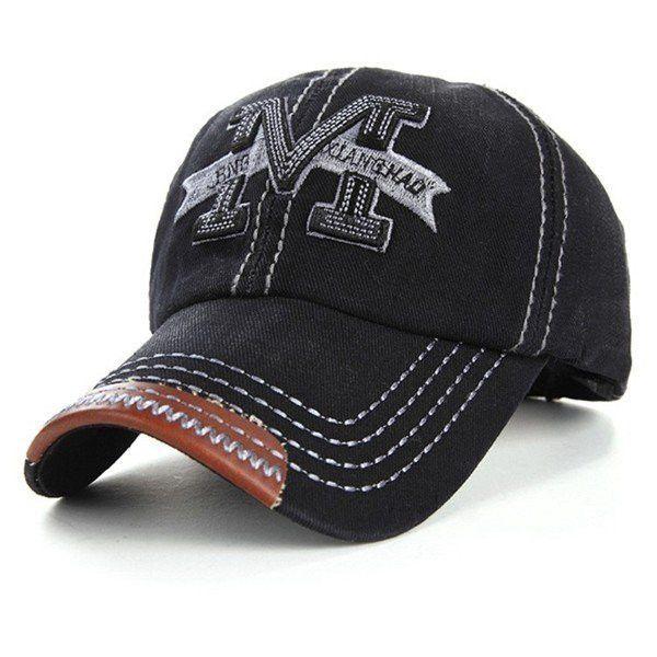 32a7c875a16 Men Women Embroidery M Cowboy Sun Hat Adjustable Snapback Baseball ...