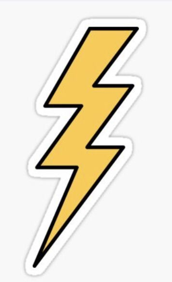 Lightning bolt sticker ⚡️⚡️⚡️ #yellowaesthetic